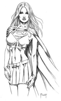 Supergirl Art By Mitch Foust
