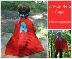 Crimson Hero Cape Materials: Worsted Weight Yarn Yarn Needle Size I 5.5 mm hook Buttons Abbreviations: Sl st - slip stitch Ch - chain Sc - single crochet Hdc - half double crochet Dc - double croch...