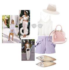 """Weekend: Brunch"" by alvinaginting on Polyvore featuring H&M, Elie Saab, Maison Michel, Sophia Webster and Christian Dior"