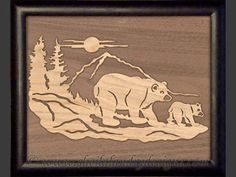 SLD374 - Overlay Black Bears Portrait Pattern