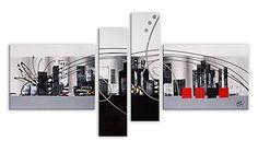 Arte dal Mondo AY039QX1 Abstrato Pintura compuesta realizada a mano montadas sobre bastidor grueso #cuadros #abstratos