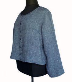 FLAX Sunshine Daily Cardi Top Blouse 1G 1X Midnight Dark Blue Linen NWOT #Flax #Blouse #Casual