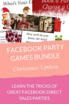 Use games and incentives to increase engagement in your Facebook parties. With more engagement you'll have better results! Read the article to learn how and grab the FREE bundle of images. Now with Christmas-themed versions as well! #directsales #directselling #partyplan