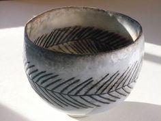 woodfired vase  Pinched porcelain bowl
