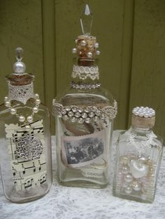 The Robin and Sparrow. Altered bottles.