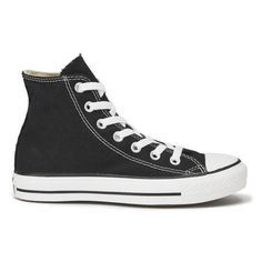 Converse Chuck Taylor All Star Canvas Hi-Top Trainers - Black (€54) ❤ liked on Polyvore featuring shoes, sneakers, converse, 18. converse., black, hi tops, black high-top sneakers, black hi tops, canvas hi tops and converse high tops