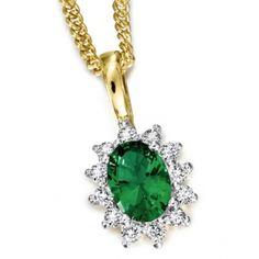 Royal Tru-Emerald Pendant 18ct Gold clad