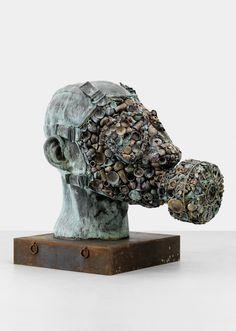 """""""Gandhi's Three Monkeys"""" (2008) by Subodh Gupta"""