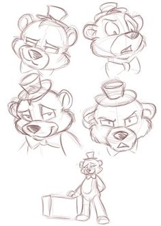 Freddy's Reference Sheet by TonyCrynight on DeviantArt