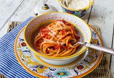 "Traditional Bucatini all""Amatriciana | Italian Food Forever Pasta All Amatriciana, Drying Pasta, Italian Pasta, Food Festival, Recipe Using, Pasta Dishes, Italian Recipes, Stuffed Peppers, Traditional"