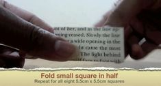 Picture of Fold Small Square in Half Origami Ball, Easy Origami, Origami Boxes, Origami Paper, Geek Cross Stitch, Cross Stitch Bookmarks, Origami Instructions, Origami Tutorial, Diy Projects Origami