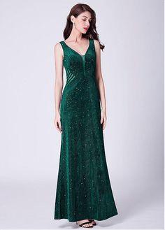 0e6463f93ac V-neck Neckline A-line Evening Dresses Prom Dresses 2019. Custom Made ...