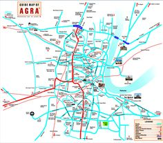 Tourist Map, Travel Route, Agra, Traveling By Yourself, Tourism, Reading, City, Image, Destinations