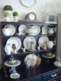 Boscarino Spring Set Up   Love This Type Of Hutch For Your Dining Room, For  Different Holidays, And Even Your Fiesta Wear!