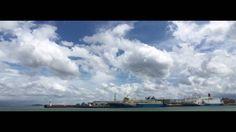 鹿児島新港から見る流れる雲を4KタイムラプスTEST   Shot on iPhone