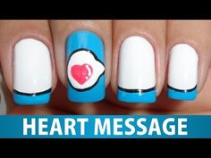 ▶ Unhas Decoradas - Heart Message - YouTube