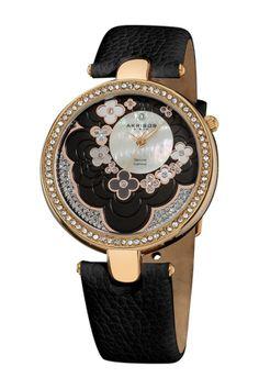 Akribos XXIV Women's Flower Dial Watch on HauteLook