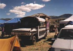 camper bus, Tonasket Barter Fair, washington from the assorted buses on the site