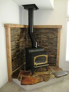 Cement Home Wood Burning.Dovre Wood Burning Stove In Matt Black Simply Stoves. Westfire Uniq 32 SE Inset Wood Burning Stove With Narrow . Home and furniture ideas is here Wood Stove Surround, Wood Stove Hearth, Wood Burner, Gas Stove Fireplace, Wood Mantle, Wood Burning Stove Corner, Corner Stove, Free Standing Wood Stove, Fireplace Surrounds