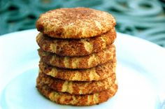 GAPS snickerdoodles..... almond flour, salt, baking soda, oil, maple syrup, vanilla, sugar, cinnamon
