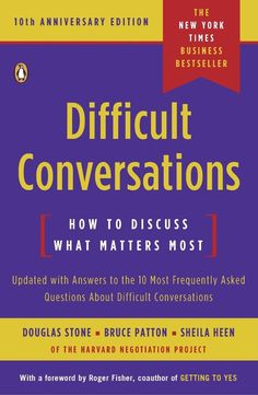 Learn how to have the hard talk.  Books that will teach you something.