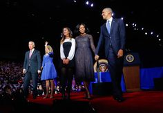 On Jan. 10, Michelle Obama wore a dress by Jason Wu, a designer she also wore at both inaugural balls, to President Obama's farewell address at McCormick Place in Chicago.