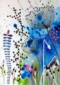 Watercolour and pen by Sara Robinson