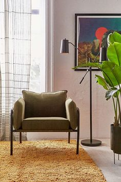 Slide View: 1: Howell Canvas Arm Chair