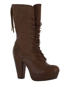 This Espresso Sister Shadow Leather Boot by Vogue Footwear is perfect! #zulilyfinds