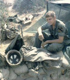 1st Cav. Div. soldier having a smoke, 1967