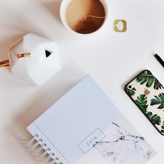 Friday's on @marissacristina's desk are all tea and phone calls  #friyay #tgif #itstheweekend #designloveplanner #onmydesk #teatime visit us at http://ift.tt/1MoIz3R