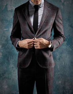 """Wool Cashmere Silk Blend Suit, $5,515, Brunello Cucinelli, 212-334-1010; Burberry London Shirt, $325, us.burberry.com; Tie,... INKED IN 