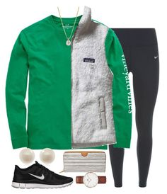 """""""Ready for cold weather"""" by carolinaprep137 ❤ liked on Polyvore featuring NIKE, Vineyard Vines, Patagonia, Links of London, Other, FOSSIL and Daniel Wellington"""