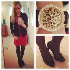 Gabes blazer, Old navy dress, Jessica Simpson pumps