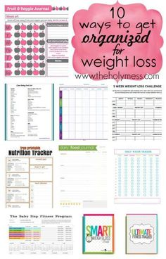 Get organized on the outside to make better choices on the inside for your health and wellness. 10 Ways to Get Organized for Weight Loss|The Holy Mess