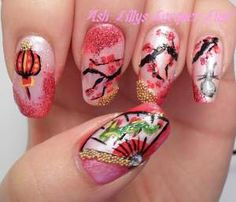 Chinese New Year Nail Art Contest Entries! Nail Designs Spring, Simple Nail Designs, Gel Designs, Nail Art Designs, Dragon Nails, Asian Nails, New Years Nail Art, Wedding Nails Design, Nail Polish Art