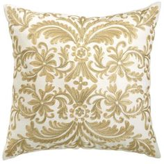 Pier 1 Imports Metallic Embroidery Pillow  ♡ed by www.LadyXeona.com