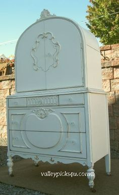Shabby French White Chic Cupboard Cabinet Dresser Chest by picks4u, $1575.00