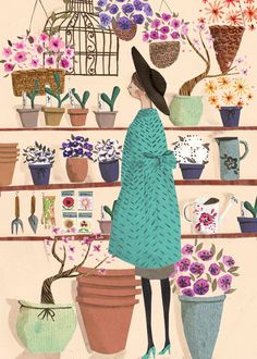 The Flower Shop A4 Archival Art Print. $22.00, via Etsy.
