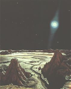Chesley Bonestell envisions the surface of Mercury