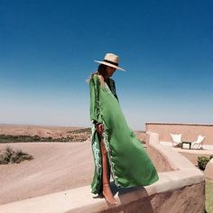 """""""Green is Peace... Email me at bakchicshop@gmail.com #bakchic #kaftan #morocco #love"""" Photo taken by @bakchic_thelabel on Instagram"""