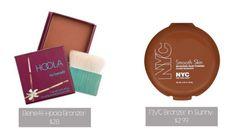 Beauty Dupes: Bronzer: Benefit Hoola $28 vs NYC Sunny $3