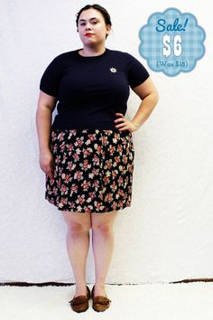 CLEARANCE  Plus Size  Vintage Crop TShirt Navy by TheCurvyElle, $6.00