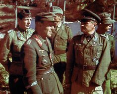 Generalmajor Ernst Schnarrenberger and Oberst Gerhard Müller from Afrikakorps, pin by Paolo Marzioli