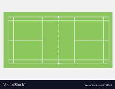Badminton court vector image on VectorStock Testing Life Cycle, Badminton Court, Adobe Illustrator, Vector Free, Pdf, Green
