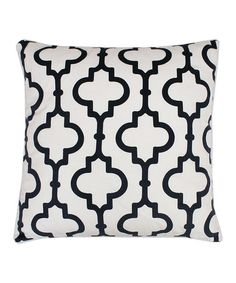 Brimming with charming appeal, this lovely cotton pillow showcases a smoke-hued quatrefoil motif. Product: PillowConstruction Material: Polyester cover and feather fillColor: SmokeFeatures: Insert includedQuatrefoil motifDimensions: x White Pillows, Throw Pillows, Quatrefoil, Cotton Pillow, Casablanca, Joss And Main, Navy And White, Decorative Pillows, Decorative Accents