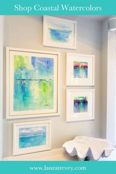Shop the new Coastal Abstract Series - Original Watercolor Paintings by Laura Trevey