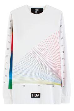 Hood By Air Rainbow Chart L/S Shirt