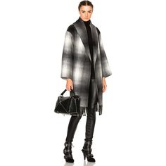 T by Alexander Wang Oversized Shawl Coat ($465) ❤ liked on Polyvore featuring outerwear, coats, coats & jackets, oversized coat, t by alexander wang, t by alexander wang coat and shawl coat