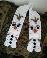 Handmade Crocheted DISNEY BRAIDED FROZEN OLAF Scarf snowman